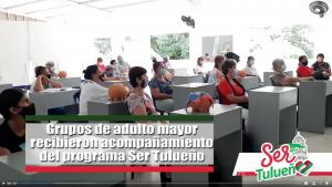 Desde el gobierno de la gente para la gente a través de la Secretaría de Bienestar Social se realizó la actividad Abuelarte.