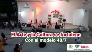 Con presentaciones artísticas se realizó el cierre del proceso de formación en el Centro Cultural Julia Escarpeta.