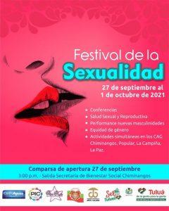 Vive el Festival de la Sexualidad  del 27 de septiembre al 1 de octubre de 2021 .